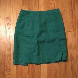 Gorgeous green wool pencil skirt